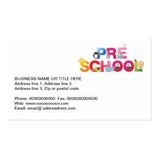pre palavra da escola em letras do divertimento cartoes de visitas