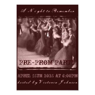 Pre-partido da dança da escola do convite de