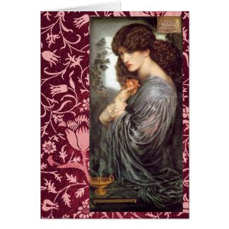 Pre-Raphaelite de Persephone & cartão de Morris