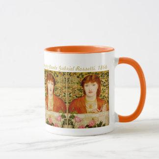 Pre-Raphaelite de Rossetti Regina Cordium CC0505 Caneca