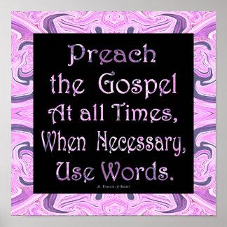 preach o evangelho posters