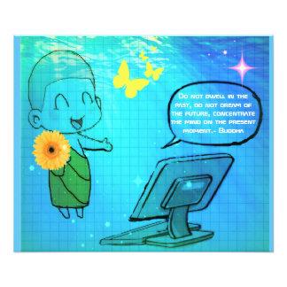 Preachings. de Budha do geek do computador Impressão De Foto