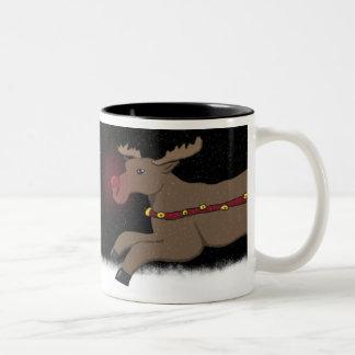 Precipitação através da caneca de Rudolph da neve