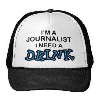 Precise uma bebida - journalista boné