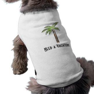 Precise uma palmeira das férias camiseta