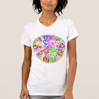 PREÇO DE VENDA: Camisa louca colorida dos DISCOS Camiseta