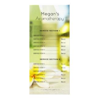 Preço do menu do salão de beleza dos cuidados com 10.16 x 22.86cm panfleto