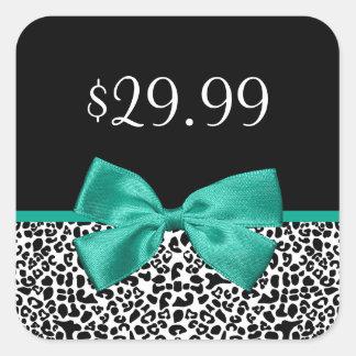 Preço feminino da fita do verde esmeralda do adesivo quadrado