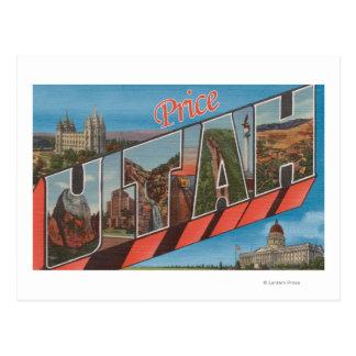 Preço, letra ScenesPrice de UtahLarge, UT Cartão Postal