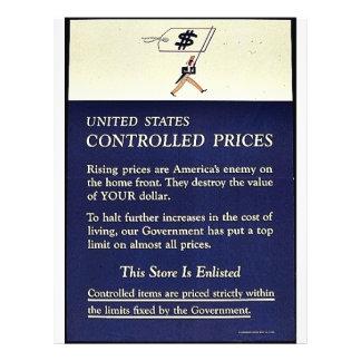 Preços controlados dos Estados Unidos Panfleto