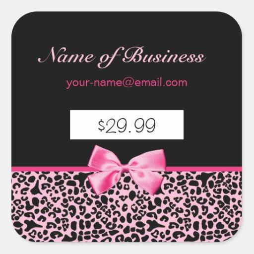 Preços cor-de-rosa e pretos na moda do rosa quente adesivo em forma quadrada