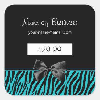 Preços na moda do impressão da zebra do preto e da adesivo quadrado