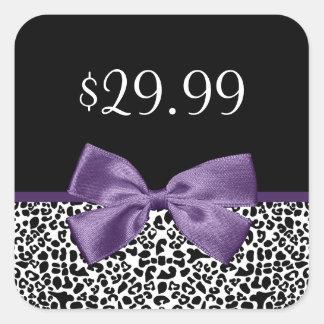 Preços roxos na moda do arco do impressão feminino adesivo quadrado