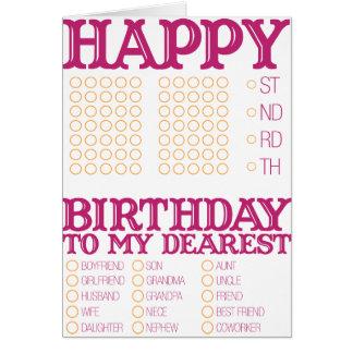 Preencha o feliz aniversario vazio! cartão comemorativo