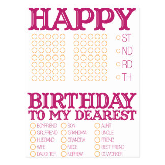 Preencha o feliz aniversario vazio! cartão postal