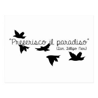 Preferisco il Paradiso Fillipo Neri Cartão Postal