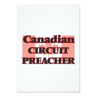 Pregador canadense do circuito convite 12.7 x 17.78cm