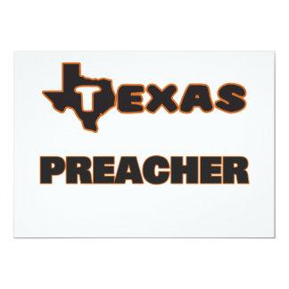 Pregador de Texas Convite 12.7 X 17.78cm