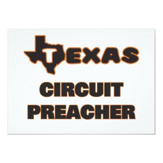 Pregador do circuito de Texas Convite 12.7 X 17.78cm