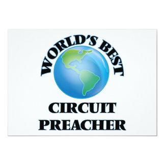 Pregador do circuito do mundo o melhor convite 12.7 x 17.78cm