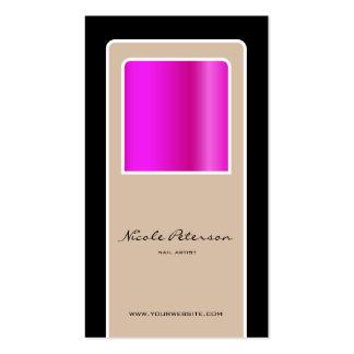 prego cor-de-rosa cartão de visita