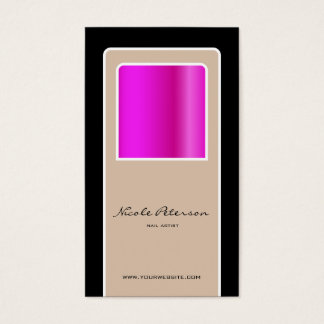 prego cor-de-rosa cartão de visitas