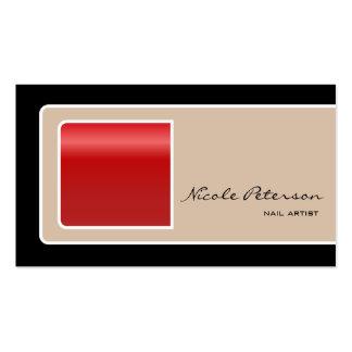 prego vermelho cartão de visita