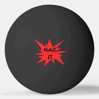 PREGUE-O! Bola preta e vermelha engraçada de Pong