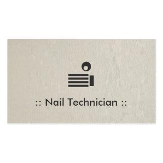 Pregue o profissional elegante simples do técnico cartão de visita