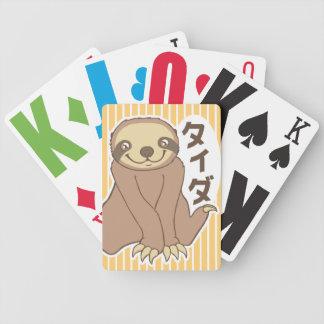 Preguiça de Kawaii Baralhos De Pôquer