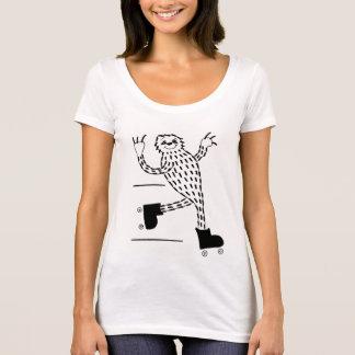 Preguiça em skates de rolo camiseta