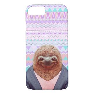 Preguiça engraçada com caso tribal asteca do capa iPhone 7