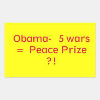 Prêmio da paz de Obama Adesivos