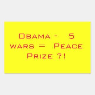 Prêmio da paz de Obama Adesivos Em Formato Retangulares