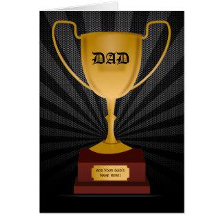 Prêmio do troféu do pai, cartão do dia dos pais