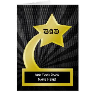 Prêmio do troféu do pai da estrela, cartão do dia