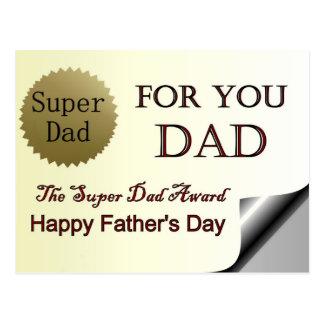 Prêmio super do pai do dia dos pais feliz cartão postal
