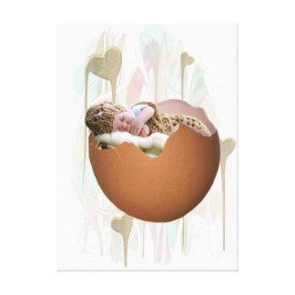 premium leinwand com baby em eierschale impressão em canvas