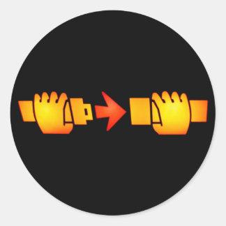 Prenda etiquetas redondas do sinal do cinto de adesivo em formato redondo