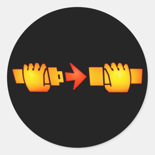 Prenda etiquetas redondas do sinal do cinto de seg adesivo