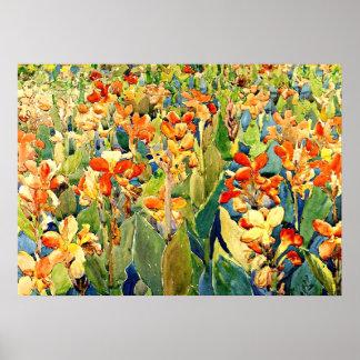 Prendergast - cama de flores pôster