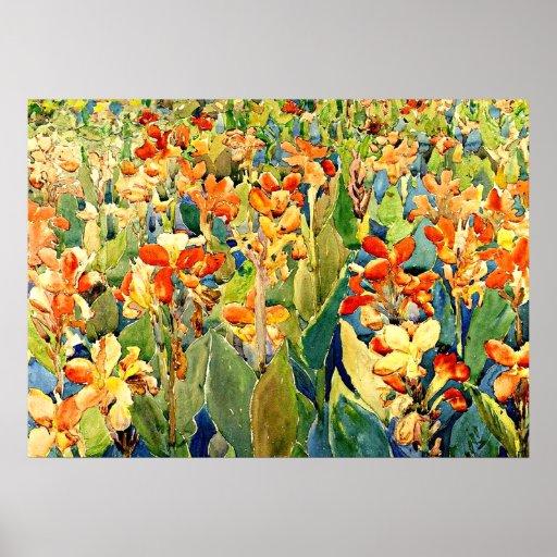 Prendergast - cama de flores poster