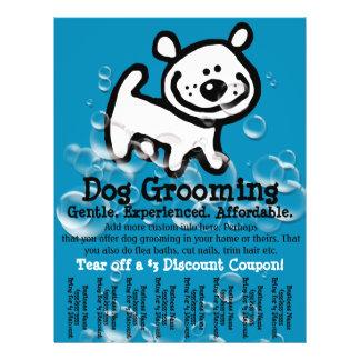 Preparação do cão. Folha de rasgo relativa à promo Panfleto Personalizados