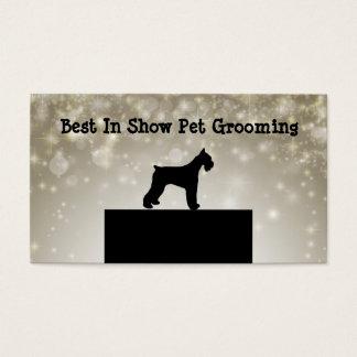 Preparação profissional do animal de estimação cartão de visitas