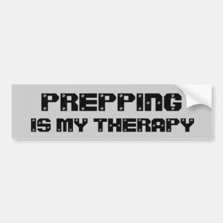 Preparar é minha terapia adesivo para carro