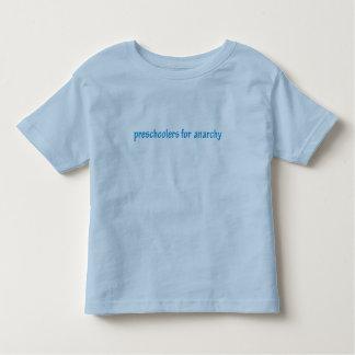 Preschoolers para a anarquia camiseta infantil