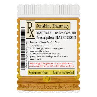 Prescrição engraçada da felicidade de RX