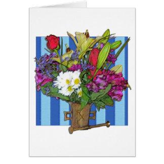 Prescrição para o cartão das flores