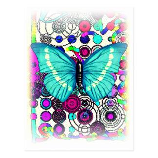 Presente antigo da borboleta cartão postal