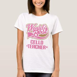 Presente bonito do professor do violoncelo camiseta